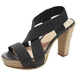 Sandalette Damen aus Leder von Patrizia Dini - Schwarz Gr. 41