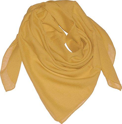 Baumwolltuch in vielen Farben 100 x 100 cm, Farben:Goldgelb, Größen:Einheitsgröße