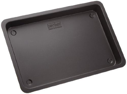 Zenker Cake Baking Tray 42x29x4 cm in black-metallic, Carbon, 42 x 29 x 4 cm