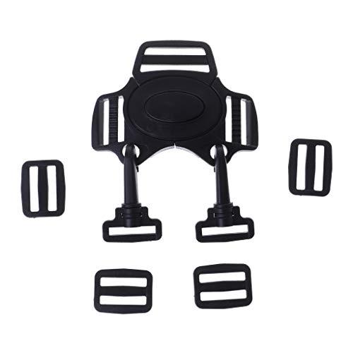 Preisvergleich Produktbild ESden Baby 5-Punkt-Gurtschloss Clip Haken Kinderwagen Buggy Sicherheitsgurt Schnalle Schwarz