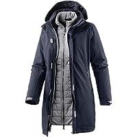 CMP cappotto da donna per il tempo libero, Donna, Freizeit Mantel, Nero, blu, L