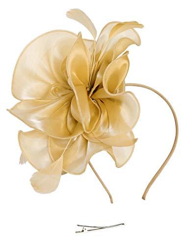 ut Damen Tea Party Stirnband Hochzeit Cocktail Blume Haarspange Derby Headwear ()