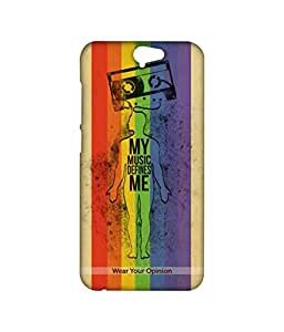 Licensed WYO Music, Quotes Premium Printed Back cover Case for HTC One A9