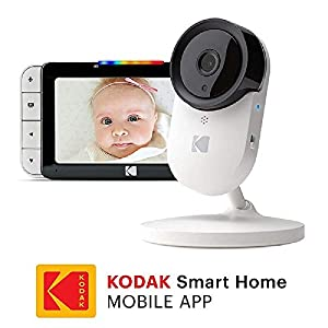 "KODAK Cherish C520IR Video Baby Monitor - 5"" HD Screen & Mobile App, Hi-res Camera, Remote Zoom, Two-Way Audio, Night-Vision, Long Range and WiFi   14"