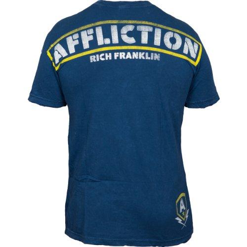 Affliction T-Shirt Rich Franklin Blau Blau