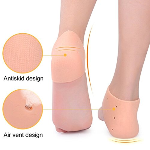 Silicone Moisturizing Gel Heel Socks Cracked Foot Skin Care Protect Foot Chapped Care Tool Health Monitors Massager Silicon Gel