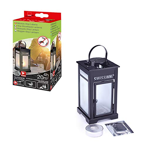Swiss Inno 1230001 Set Antizanzare: Lanterna Compreso Candela/Piastrine