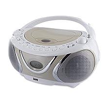 Metronic 477116 Radio CD MP3 Boombox Casual Weiß/Beige