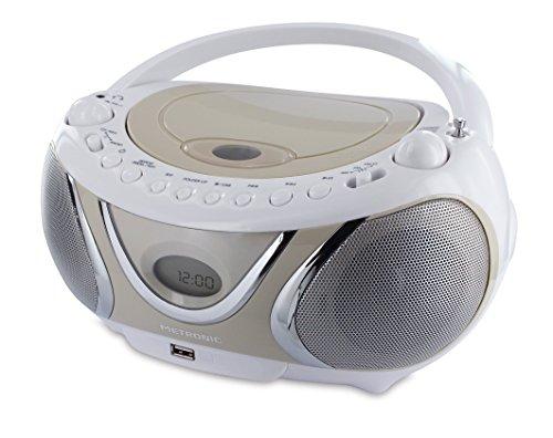 Metronic 477116 Radio CD MP3 Boombox Casual