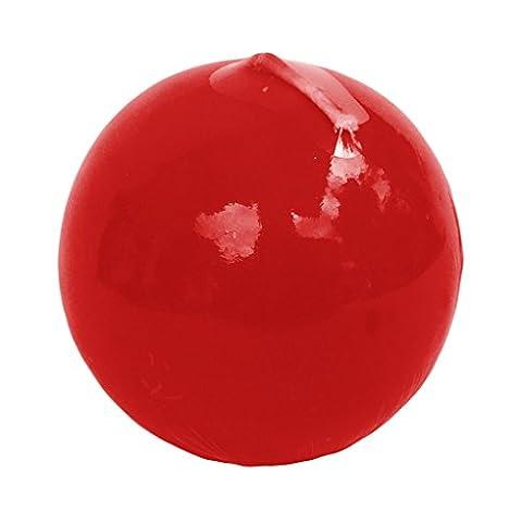 Apple & Cannelle parfumée Bougie Boule solide couleur rouge 7x 7cm Table Bistro Fête de Noël Bougies Pilier Rouge
