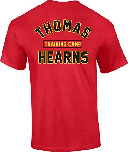 Trainingslager Herren T-Shirt Normale Passform Rot Mittel ()