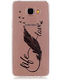 Samsung Galaxy A3 (2016) Hülle,Cozy Hut Samsung Galaxy A3 (2016) A310 Shock Proof Hülle Schutzhülle Case Cover Bumper mit Heavy Duty Shock Absorption und Anti Scratch Back für Samsung Galaxy A3 (2016) A310 - 8 Zeichen Feder