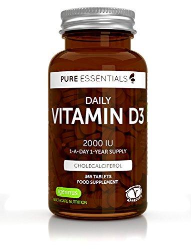 Vitamina D3 Colecalciferol 2000 UI de Pure Essentials, su