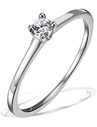Goldmaid–Bague Solitaire Jana Jana Bague Solitaire 0,10ct. 585or blanc diamant 0.10ct blanc carat –So r6732wg52