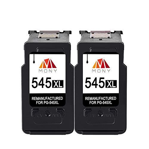 Mony Rigenerata Cartuccia d'inchiostro per Canon PG-545 XL PG-545XL (2 Nero) ad Alta Capacità Compatibili con Canon Pixma MG2550 MX495 MG2950 MG3051 MX490 MG2450 MG2550S IP2850 Stampante