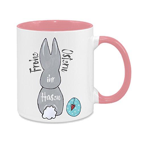 Frohe Ostern, Ihr Hasen - hochwertiger Keramik-Kaffeebecher - Cups by t? - Kaffeetasse - Spruchtasse - Tasse mit Spruch - Geschenk