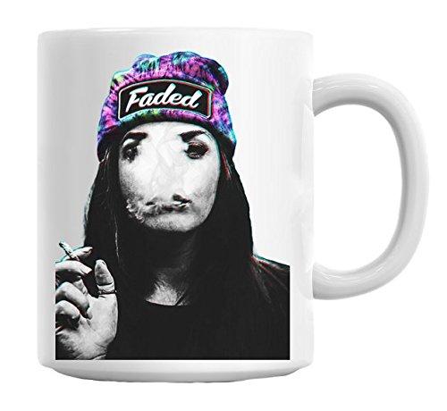 Stoned Weed Girl Faded Snapback hipster Sexy Mug
