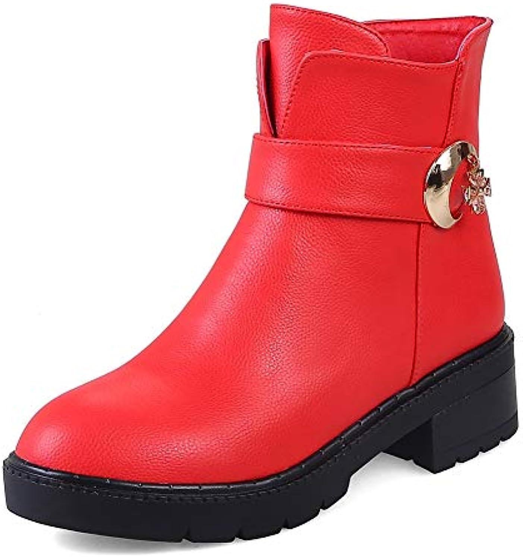HOESCZS Large Taglie 32-43 Scarpe da Donna Stivali Stivali Stivali da Donna Western Fashion Stivaletti Invernali Donna Scarpe | Meraviglioso  | Uomini/Donna Scarpa  254d7b