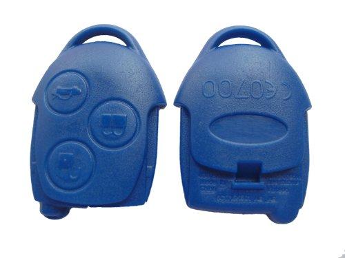 Preisvergleich Produktbild Schlüssel Gehäuse Ford Transit Connect 3 Tasten blau Fernbedienung neu