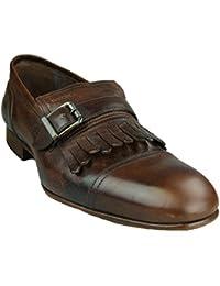 GEOX Herren Slipper/Business Schuhe U RICHARD N Coffee - im Vintage Style - U24U2N 000RS C6009 (H-38)