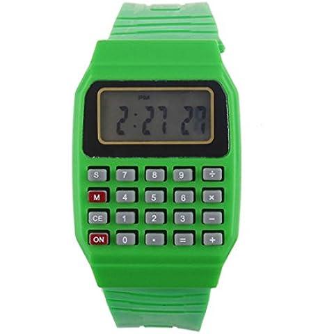 Xinantime Digitale Orologio da Polso Sportivo Colore Verde Bambini