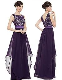 601e697c651c1 Prom elegante serata Abiti da donna senza maniche in pizzo floreale Abiti da  damigella d onore in chiffon Abito da…