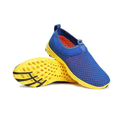 Chaussure de sport pour amoureux randonné adulte mixte basket mode homme femme paresseux léger Bleu