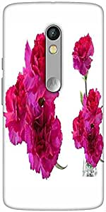 Snoogg Beautiful Flowers Designer Protective Back Case Cover For Motorola X Play