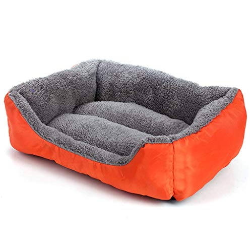 DYW-kennel Bequemer Hundehaushundereisekiste Hundehütte Large Medium Dog Warm Dick Katzenstreu Pet Herbst und Winter Hund Mat Hundebett (Color : Orange, Größe : XL)