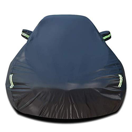 FEE-ZC Regendicht Sunscreen verdickung Auto Abdeckung kompatibel mit Porsche 911 Allwetter Regen Sonnencreme schneesicher staubdicht wasserdicht Outdoor Indoor Auto Schutz (Farbe: schwarz)