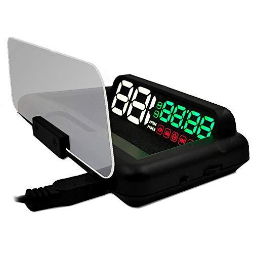 Konrisa Auto HUD Head Up Display Geschwindigkeitsmesser GPS Tachometer Geschwindigkeit Erwärmung MPH KM / H Diagnosewerkzeuge Windschutzscheibe Projektor Motorausfall