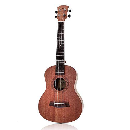 ZGHNAK Chitarra in legno di mogano da 26 pollici Ukulele tenore per chitarra acustica a 18 tasti in legno di mogano Ukelele a 4 corde chitarra