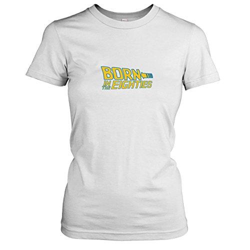 TEXLAB - Born in the 80s - Damen T-Shirt, Größe XL, weiß (Zurück Doc Die Brown In Kostüm Zukunft)