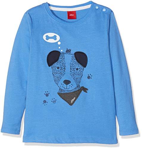 s.Oliver s.Oliver Baby-Jungen Langarmshirt 65.809.31.8179, Blau (Blue 5511), 62