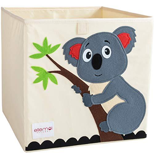 ELLEMOI Aufbewahrungsboxen für Kinderzimmer Große Kapazität Faltbar Aufbewahrung Spielzeug, Kleidung, Schuhe Aufbewahrungsbox (Koala)