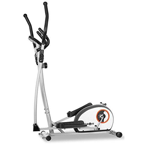 Klarfit ELLIFIT BASIC 10 Crosstrainer Heimtrainer inkl. Trainigscomputer (8-stufiger Widerstand, Trainingscomputer mit Zeit, Geschwindigkeit, Kalorienverbrauch und Distanz) weiß