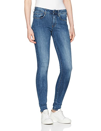 G-STAR RAW Damen Skinny Jeans 3301 D-Mid Super Wmn, Blau (Medium Aged 071), W30/L34