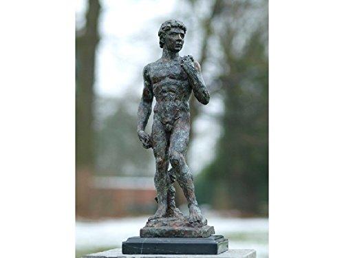 H. Packmor GmbH Sehr schöne Bronzeskulptur eines Mannes David aus Bronze gefertigt