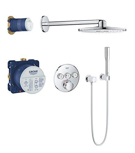 Grohe Grohtherm Smartcontrol | Brause- und Duschsysteme -  Duschsystem | Unterputz System mit Rainshower 310 Smartactive Kopfbrause | 34705000