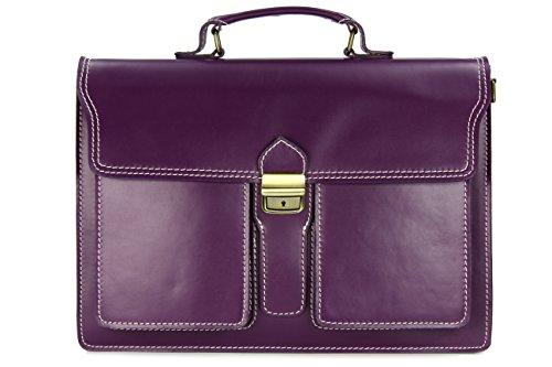 """Belli """"Design Bag B ital. Leder Businesstasche Arbeitstasche Messenger Aktentasche Lehrertasche Laptoptasche unisex - Farbauswahl - 40x30x1..."""