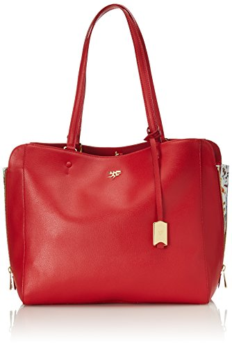 Piero Guidi Magic Circus Classic Leather Borsa Tote, 32 cm, Rosso