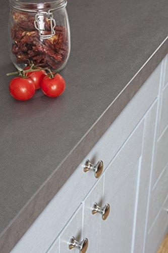 WORKTOPEXPRESS Betonoptik - Resopal Küchenarbeitsplatten (Rückwand 3m × 650mm × 13mm)
