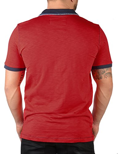 Herren Polo Shirt mit Beale Street 56 Logo! Sportliches Poloshirt, Farbe: rot Rot