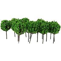 50 Stk. Modellbahn Bäume Landschaft Hellegrün 1: 300