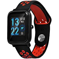 Correas para xiaomi huami amazfit bip youth ,❤️Amlaiworld Muñequera Correa de reloj de pulsera de silicona ajustable para Xiaomi Amazfit Bip Youth Watch correa de repuesto para reloj Reloj (rojo, Para Xiaomi Amazfit Bip Youth)