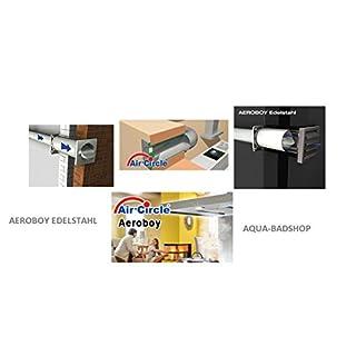 Hochwertiger AIR-Circle® Aeroboy Mauerkasten mit Edelstahllamellen - Energiesparmauerkasten Ø 150 Außengitter Edelstahl Air Circle Mauerkasten-Das Original