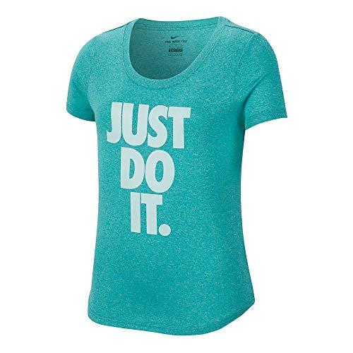 Nike Mädchen G Nk Dry Tee Leg Scoop JDI Hemd, Hütte/Htr, XS -
