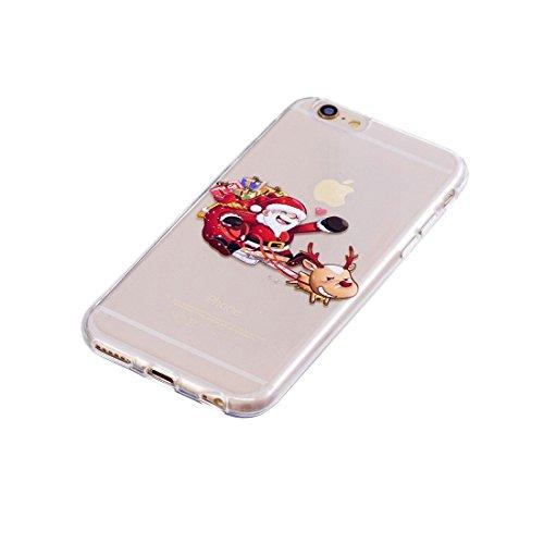 iPhone 6S / 6 Copertura,Bella Albero di Natale Pattern Ultra sottile Custodia in TPU Gel [Transparent] Copertura posteriore in gomma flessibile Copertura protettiva Case for iPhone 6S / 6 4.7inch colour 6