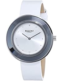 Regent Damen-Armbanduhr Analog Quarz Leder 12111123
