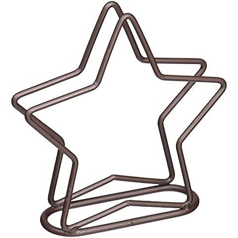 Star - Portatovaglioli, finitura rustica, colore: